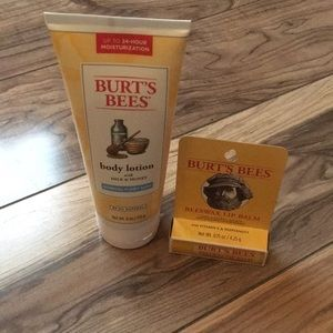 New! Burt's Bees Lotion and Chapstick